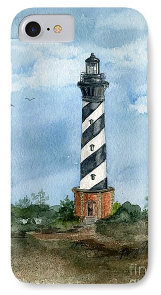 Cape Hatteras Lighthouse  IPhone Case by Nancy Patterson