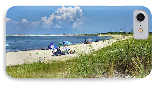 Cape Henlopen State Park - Beach Time IPhone Case by Brendan Reals