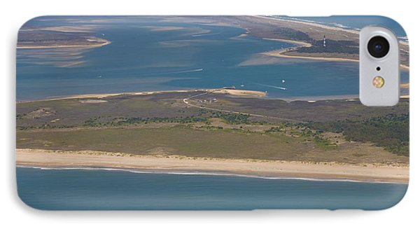 Cape Lookout Lighthouse Distance IPhone Case by Betsy Knapp