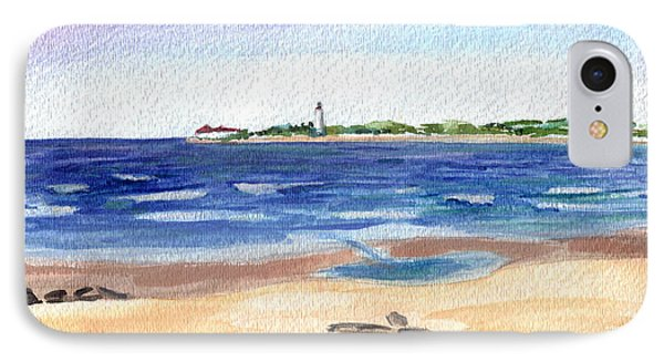 IPhone Case featuring the painting Cape May Beach by Clara Sue Beym