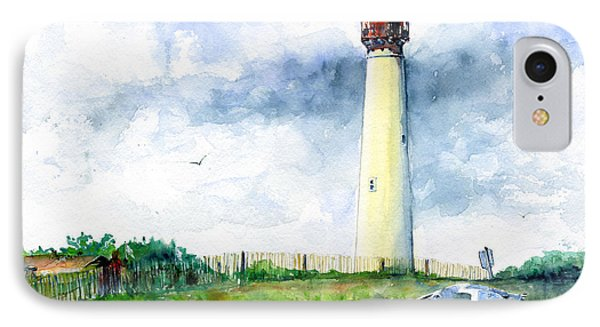 Cape May Lighthouse IPhone Case by John D Benson