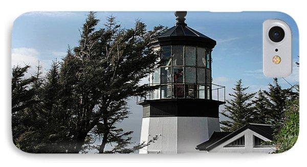 Cape Meares Lighthouse Near Tillamook On The Scenic Oregon Coast IPhone Case by Christine Till