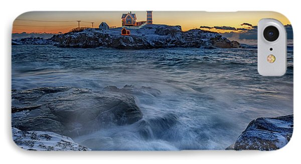 Cape Neddick In The Cold IPhone Case by Rick Berk