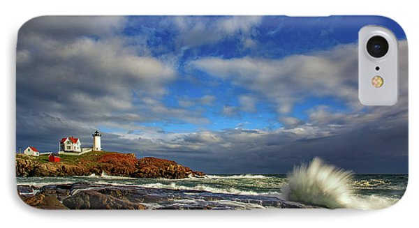 Cape Neddick Lighthouse IPhone Case by Rick Berk