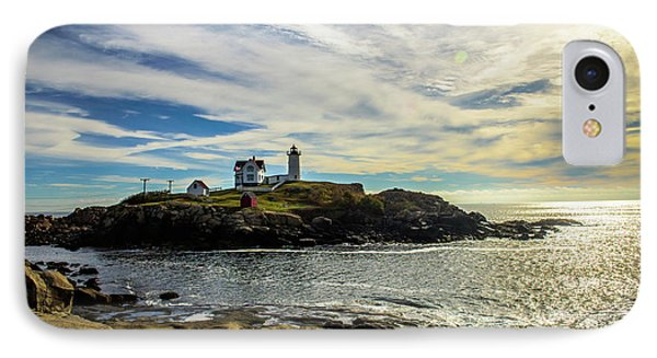 Cape Neddick Lighthouse IPhone Case by Sherman Perry