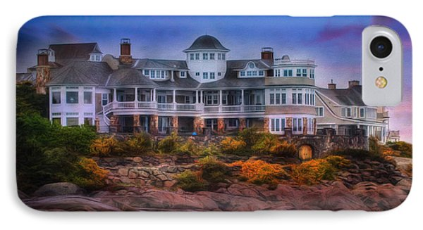 IPhone Case featuring the photograph Cape Neddick Maine Scenic Vista by Shelley Neff