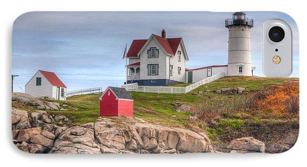 Cape Neddick Nubble Lighthouse I Phone Case by Clarence Holmes