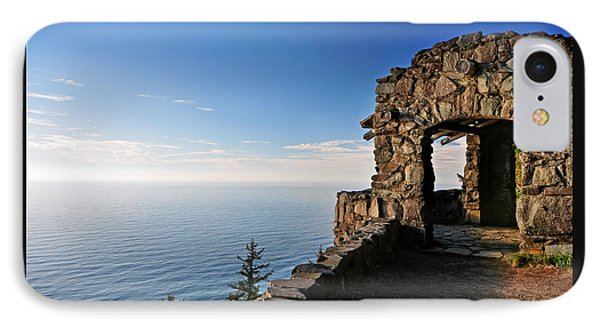 IPhone Case featuring the photograph Cape Perpetua Stone Shelter by Lara Ellis