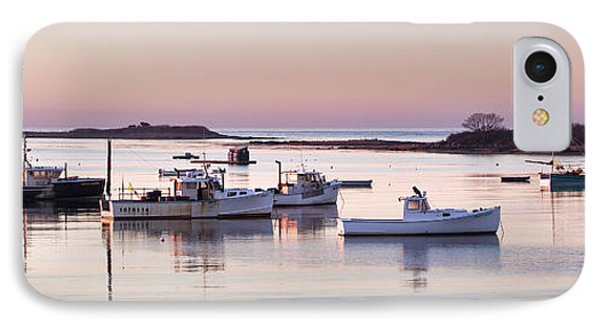 Cape Porpoise Harbor Panorama IPhone Case by Eric Gendron