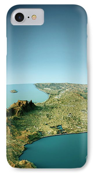 Cape Town 3d View South-north Natural Color IPhone Case by Frank Ramspott