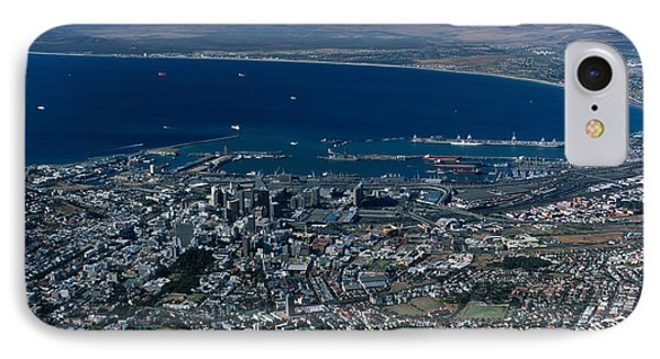Capetown South Africa Aerial Phone Case by Sandra Bronstein