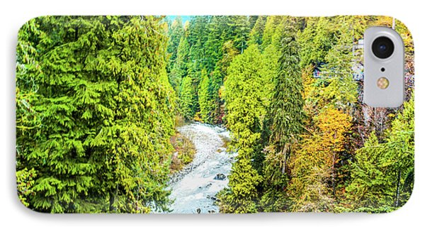 Capilano River, Vancouver IPhone Case by Art Spectrum