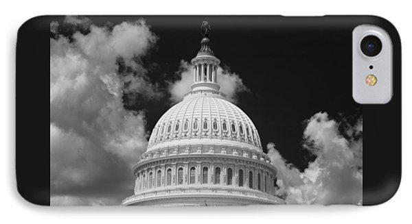 Capital Dome Washington D C  B W IPhone Case by Steve Gadomski