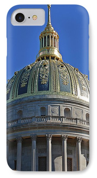 Capitol Dome Charleston Wv IPhone Case by DigiArt Diaries by Vicky B Fuller