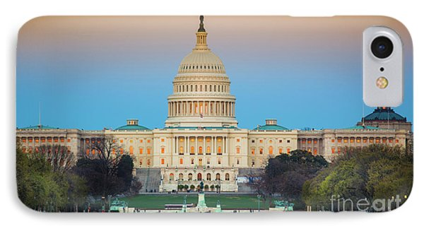 Capitol Hill IPhone Case by Inge Johnsson