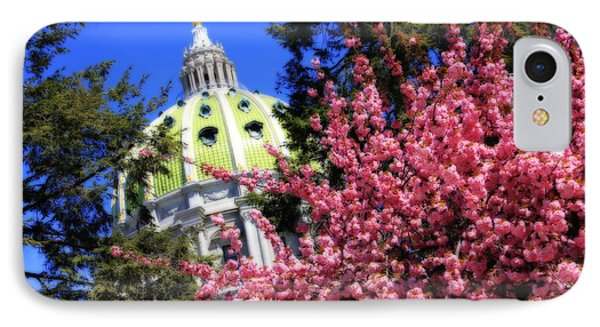 Capitol In Bloom IPhone Case by Shelley Neff