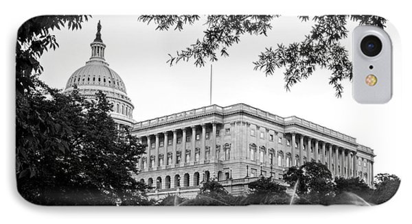 IPhone Case featuring the photograph Capitol Lawn In Black And White by Greg Mimbs