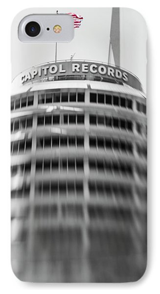 Capitol Records Building 18 IPhone Case by Micah May