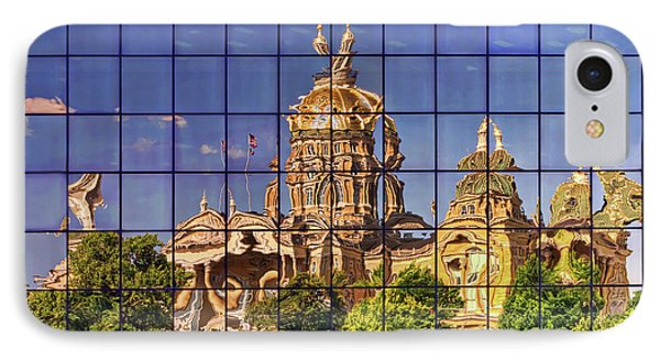 IPhone Case featuring the photograph Capitol Reflection - Iowa by Nikolyn McDonald