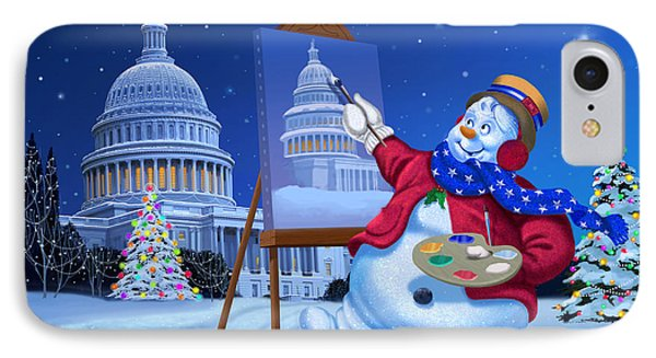 Capitol Snoman IPhone Case by Michael Humphries
