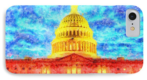 Capitol  - Watercolor -  - Pa IPhone Case