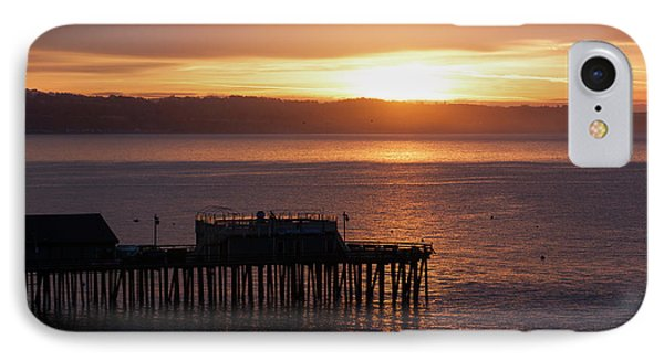 IPhone Case featuring the photograph Capitola Day Begins by Lora Lee Chapman