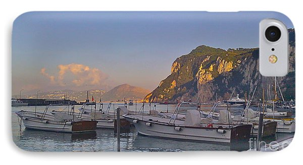 Capri- Harbor Boats IPhone Case