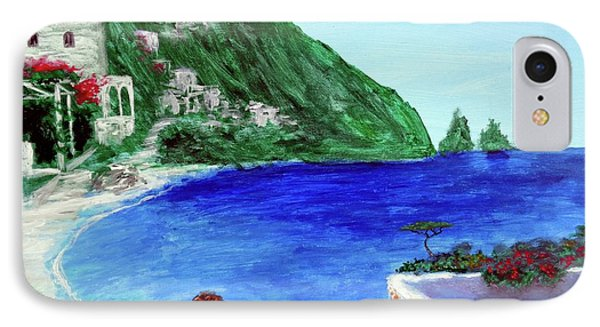 IPhone Case featuring the painting  Capri by Larry Cirigliano