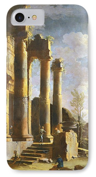 Capriccio With Ancient Ruins And Figure, Dawn IPhone Case