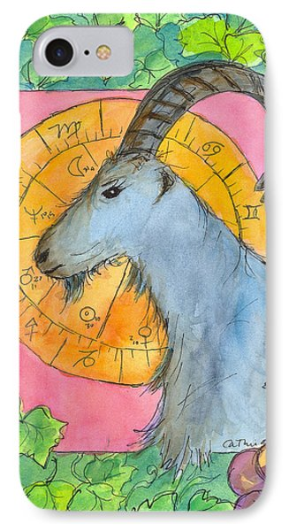 IPhone Case featuring the painting Capricorn by Cathie Richardson