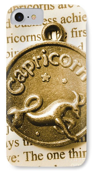 Capricorn Zodiac Lucky Charm IPhone Case by Jorgo Photography - Wall Art Gallery