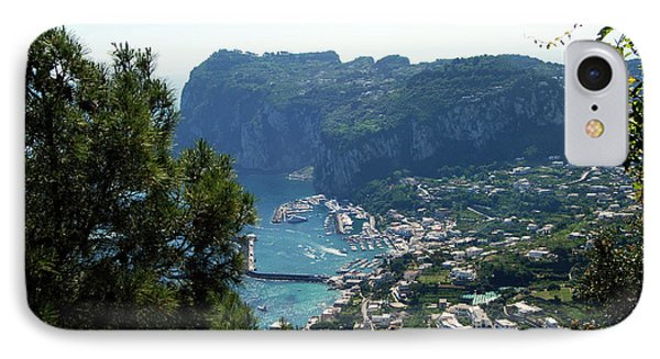 Capri's Marina Grande From The Villa San Michele In Anacapri IPhone Case
