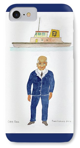Capt. Don Phone Case by Fred Jinkins