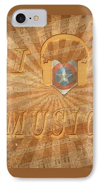 Captain America Lullaby Original Digital IPhone Case by Georgeta Blanaru