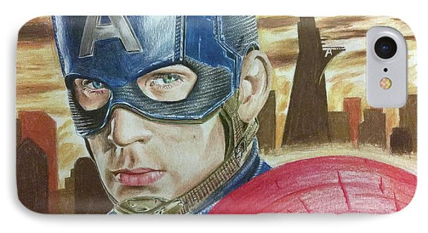 Captain America IPhone Case by Michael McKenzie