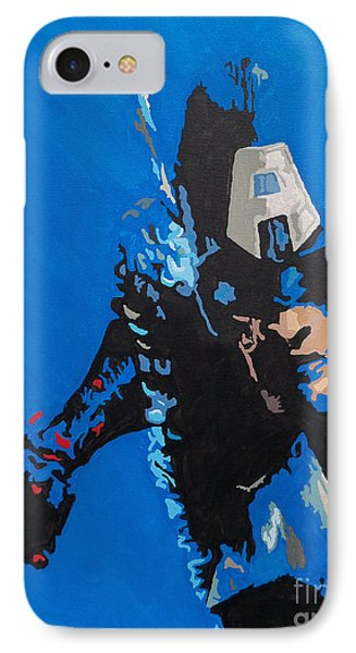 Captain America - Out Of The Blue  Phone Case by Kelly Hartman