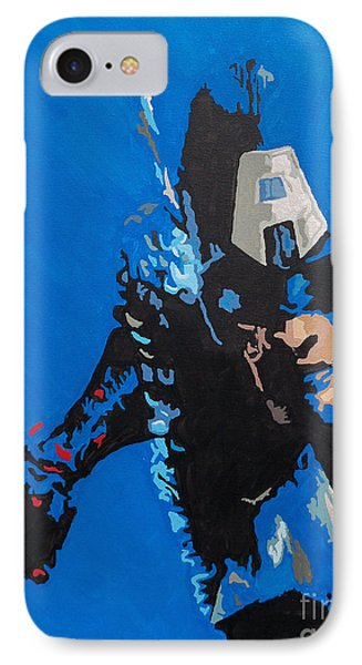 Captain America - Out Of The Blue  IPhone Case by Kelly Hartman