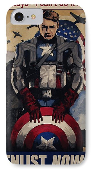 Captain America Recruiting Poster IPhone Case