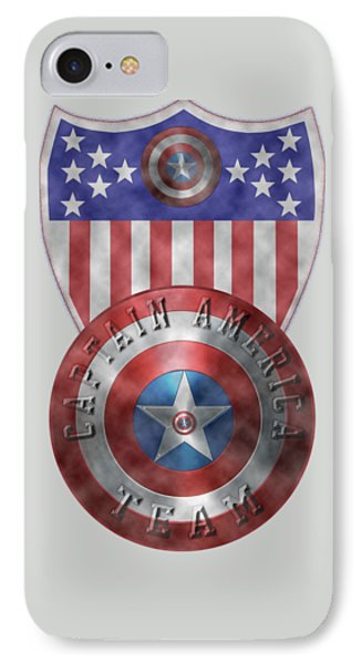 Captain America Shields On Gold  IPhone Case by Georgeta Blanaru