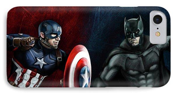 Captain America Vs Batman IPhone 7 Case by Vinny John Usuriello