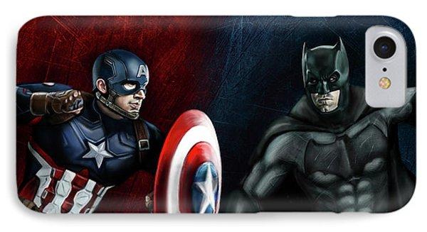 Captain America Vs Batman IPhone Case by Vinny John Usuriello