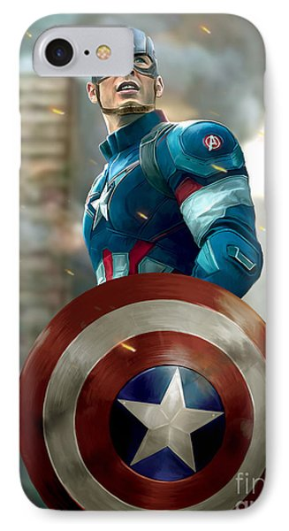 Captain America With Helmet IPhone Case by Paul Tagliamonte