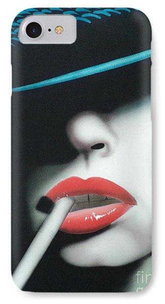 Captain Cigarette IPhone Case by Carla Carson
