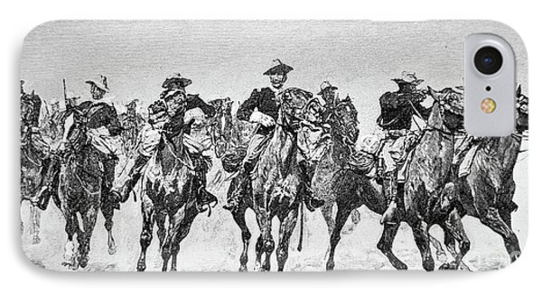 Captain Dodge's Troopers To The Rescue IPhone Case by Frederic Remington