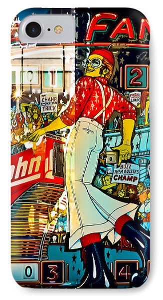 Elton John iPhone 7 Case - Captain Fantastic - Pinball by Colleen Kammerer