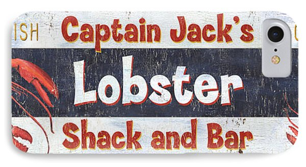 Captain Jack's Lobster Shack IPhone 7 Case by Debbie DeWitt