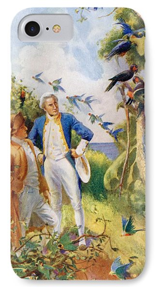 Captain James Cook And Botanist Joseph IPhone Case