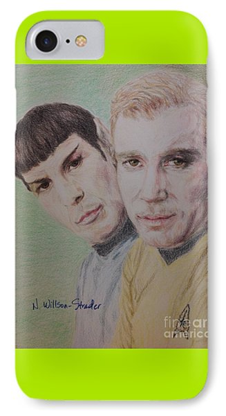 Captain Kirk And First Officer Spock IPhone Case by N Willson-Strader
