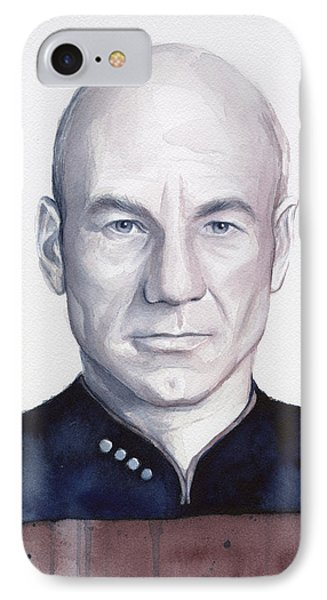 Captain Picard IPhone Case by Olga Shvartsur