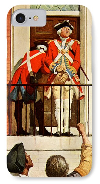 Captain Tennant With The Crowd In Front  IPhone Case by Newell Convers Wyeth
